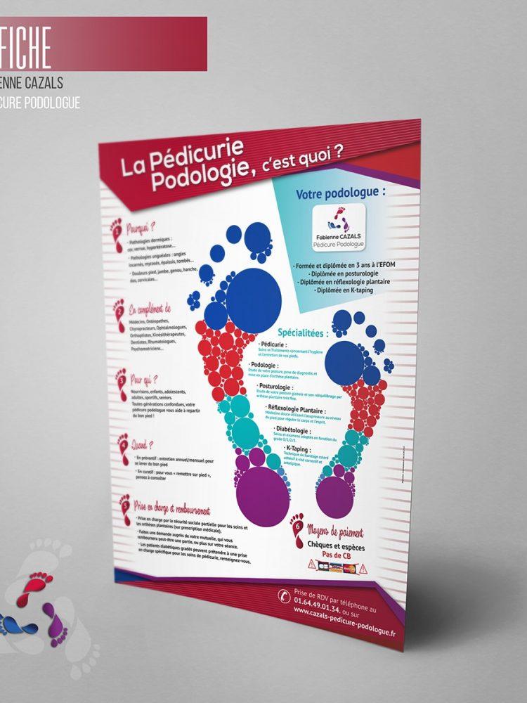 Affiche du cabinet de Fabienne Cazals Podologue