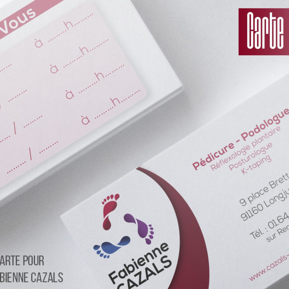 Carte de Visite Fabienne Cazals