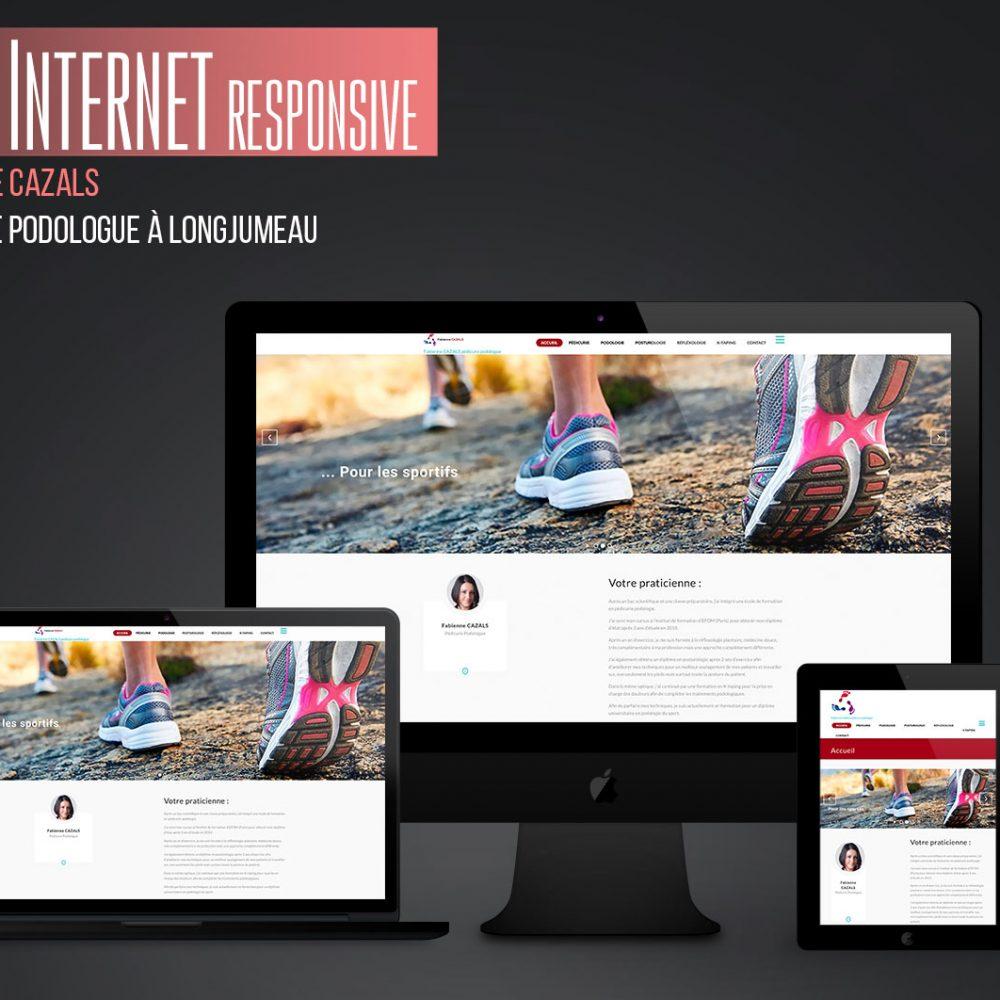 Site Web de Fabienne Cazals Podologue